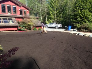Once the soil is slung in, there is still LOTS of work to be done!